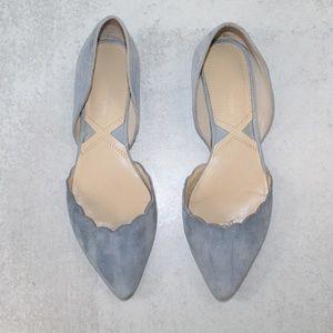 Adrienne Vittadini  D'Orsay Friskie Scallop Flats